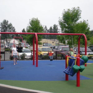 Colorful Park Inclusive Playground with Swings gallery thumbnail