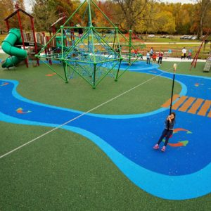 Custom Lake-Side Playground with Zip Line and Expression Swing gallery thumbnail